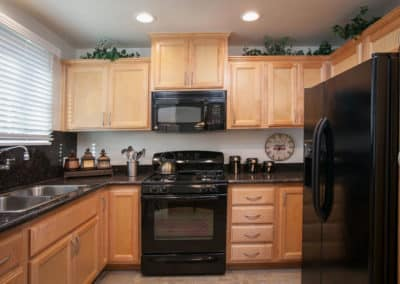 Kitchen-with-black-appliances